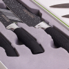 Набор 3 кухонных ножа Kamille Oryen Black на магнитной планке