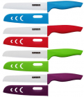 Ніж керамічний Kamille Miracle Blade для хліба 15см + чохол кольоровий