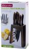 Набір кухонних ножей Kamille Oryen Brown 5 ножів на підставці Block