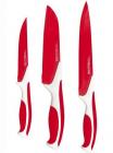 Набор ножей Kamille Antibacterial 3 кухонных ножа с антибактериальным покрытием