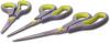 Набор кухонных ножниц Kamille 19.2см, 21.5см и 24.5см с нескользящими ручками