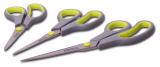 Набор кухонных ножниц Kamille 14см, 17см и 21.5см с нескользящими ручками