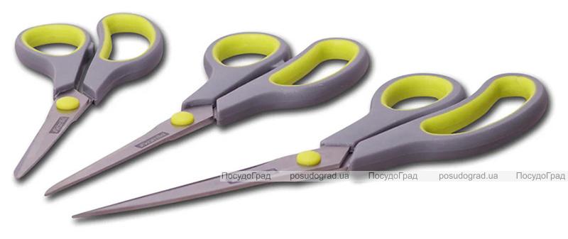 Набір кухонних ножиць Kamille 14см, 17см та 21.5см з неслизькими ручками
