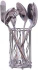 Набір кухонних аксесуарів Kamille Crystal Gold 6 предметів в металевому стакані