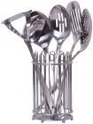 Набір кухонних аксесуарів Kamille Crystal 6 предметів в металевому стакані