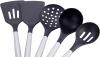 Набір кухонного приладдя Kamille Kitchen Utensils 5 аксесуарів на сталевий підставці