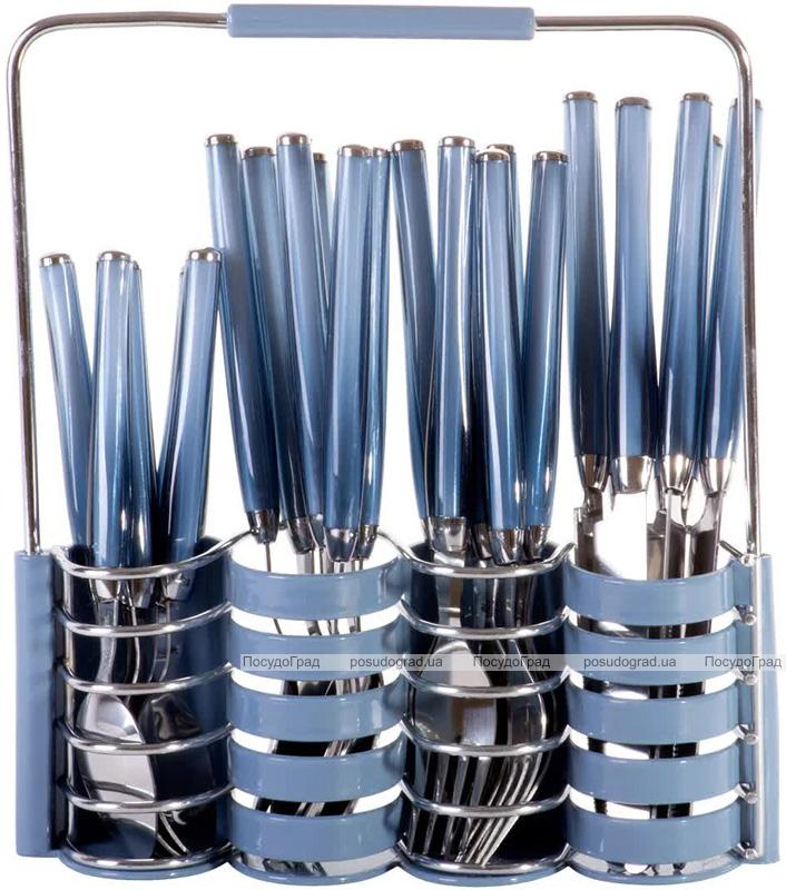 Набор столовых приборов Kamille Elegance Set на 6 персон, с подставкой