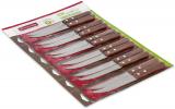 Набір 12 столових ножів Kamille Natural Treasure з дерев'яними ручками