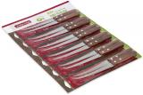 Набор 12 филейных ножей Kamille Natural Treasure с деревянными ручками