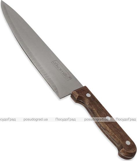 """Нож кухонный Kamille Eco Force """"Шеф-повар"""" 20см с деревянной ручкой"""