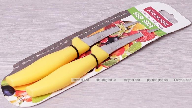 Набір 2 овочевих ножа Kamille Grakila, 8см