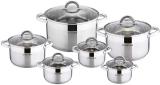 Набір кухонного посуду Kamille Mystery 6 сталевих каструль з кришками