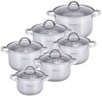 Набор кухонной посуды Kamille Mystery 6 кастрюль с крышками