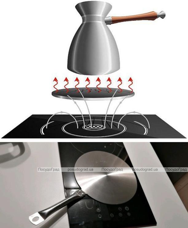Адаптер для індукційної плити Kamille Ø14.5см з нержавіючої сталі (індукційний перехідник)