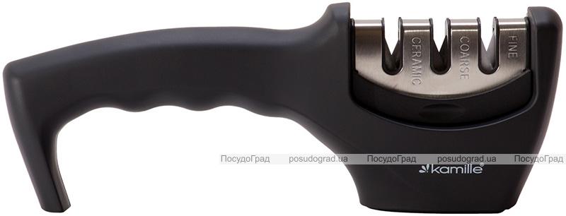 Точилка для ножей Kamille 20.5х5х7см с двумя видами точил