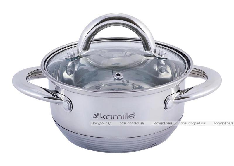Каструля Kamille Millay 1.1л з нержавіючої сталі з 7-шаровим індукційним дном