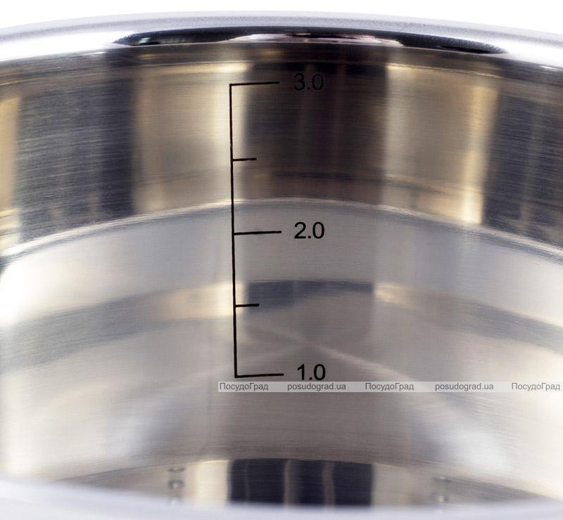 Кастрюля индукционная Kamille Casserote 3.1л из нержавеющей стали со стеклянной крышкой