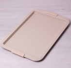 Противень Kamille Marble 43.5х29.5х2см с силиконовыми ручками