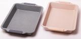 Форма для выпечки Kamille Marble 40х30х6см с силиконовыми ручками