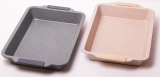Форма для выпечки Kamille Marble 46х30х6см с силиконовыми ручками