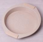 Форма Kamille Marble круглая 28.5х26.5х4см с силиконовыми ручками
