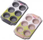 Форма для выпечки кексов Kamille Marble 30х18см, 6 ячеек