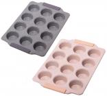 Форма для випічки кексів Kamille Marble 38х26см, 12 осередків