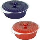 Кастрюля керамическая Kamille 2.5л для запекания с керамической крышкой