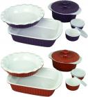 Набір керамічного посуду Kamille для запікання 8 предметів