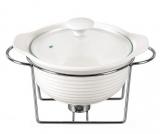 Мармит Kamille Food Warmer керамическая кастрюля 1.2л Ø23см с подогревом