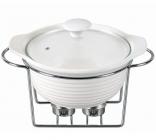 Мармит Kamille Food Warmer керамическая кастрюля 2.4л Ø28см с подогревом