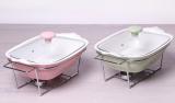 Мармит Kamille Food Warmer керамическая цветная форма 1.4л 30см с подогревом