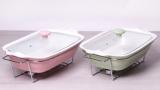 Марміт Kamille Food Warmer керамічна кольорова форма 2.3л 38см з підігрівом