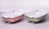 Мармит Kamille Food Warmer керамическая цветная форма 3.7л 43см с подогревом