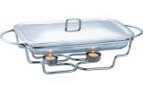 Мармит Kamille Food Warmer прямоугольное блюдо 3л 50х25см с подогревом