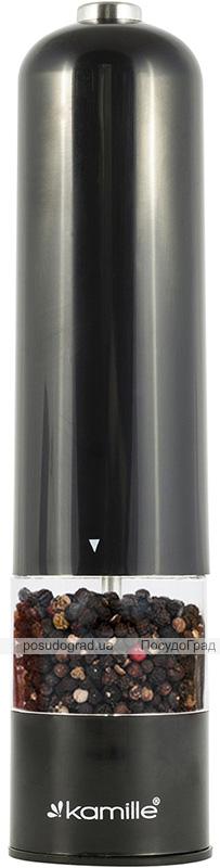 Мельница для специй Kamille электрическая 22см, черная