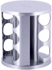 Набор для специй Kamille Mirele Silver 12 емкостей на стальной круглой подставке