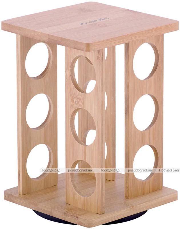 Набор для специй Kamille Mirele 12 емкостей на бамбуковой подставке
