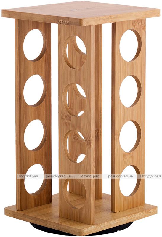 Набір для спецій Kamille Mirele 16 ємностей на бамбуковій підставці
