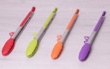 Щипці Kamille Delight 30.5см силіконові з металевою ручкою
