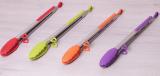 Щипці Kamille Delight 35.5см силіконові з металевою ручкою
