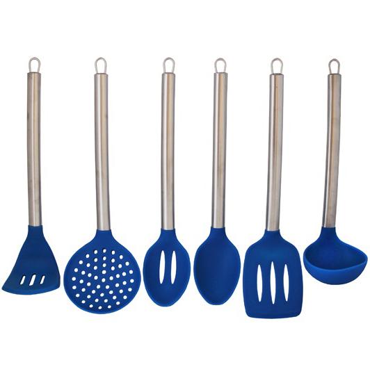 Кухонный набор Kamille 6 предметов, нержавейка + силикон