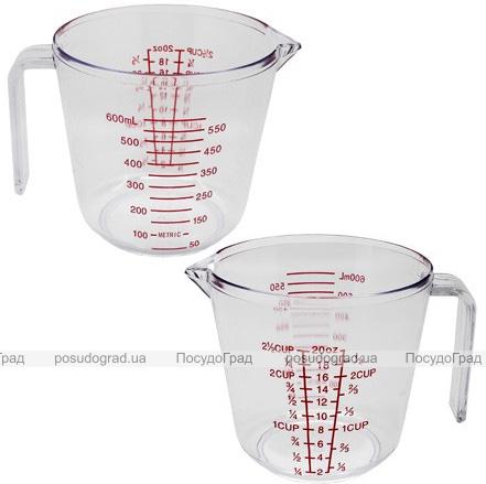 Мерный стакан Kamille 600мл, пластиковый