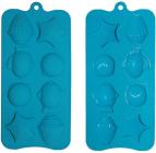 """Форма силиконовая Kamille """"Морской мир"""" для льда и конфет 22х10х1.5см 8 ячеек"""