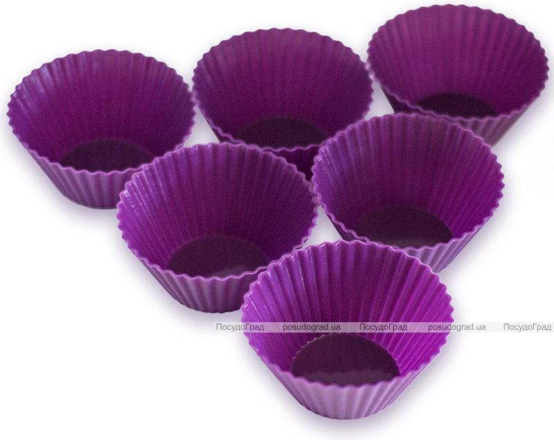 Набор 6 форм силиконовых Kamille Wave для кексов и маффинов 7х7х3.5см