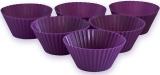 Набір 6 форм силіконових Kamille Wave для кексів і маффінів 7х7х3.5см