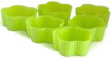 Набір 6 форм силіконових Kamille Flower для кексів і маффінів 7х7х3см