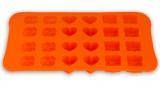 """Форма силіконова для льоду або цукерок Kamille """"Мікс: троянда, бантик і сердечко"""" 22.5х14.1.5см"""