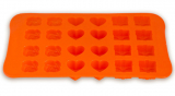 """Форма силиконовая для льда или конфет Kamille """"Микс: роза, бантик и сердечко"""" 22.5х14.1.5см"""