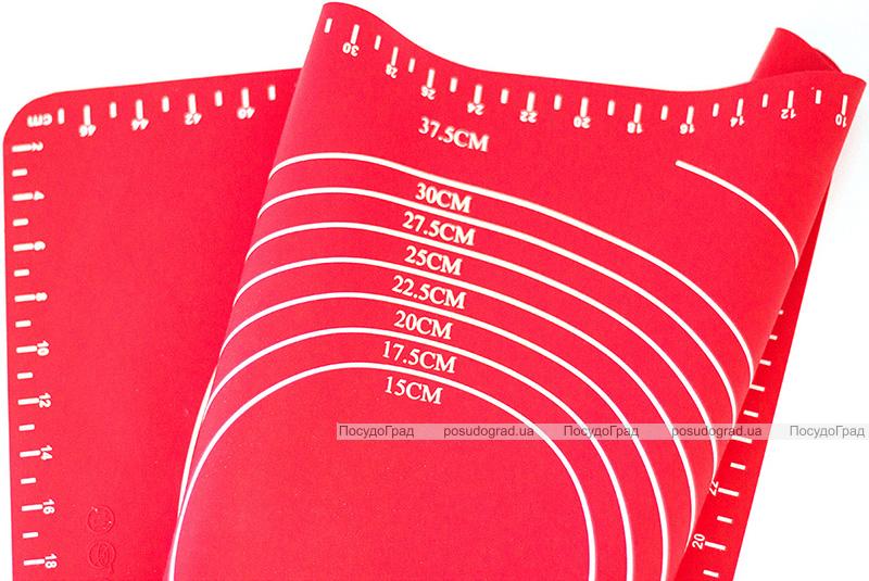 Коврик силиконовый Kamille Vincennes 49х39см с разметкой для раскатки теста и выпечки